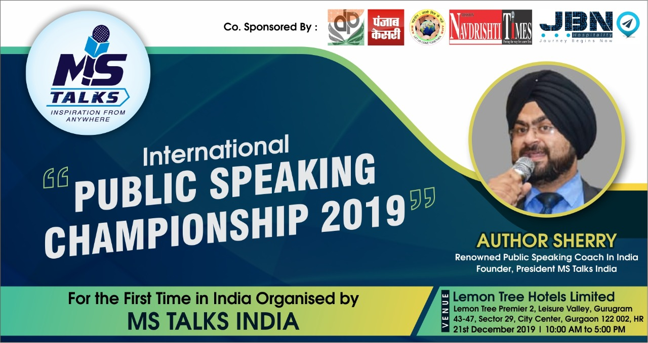 International Public Speaking Championship 2019 by MS Talks